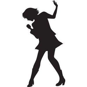 300x300 Imagenes Diva Girl Silhouette Clip Art Singer Clipart Image