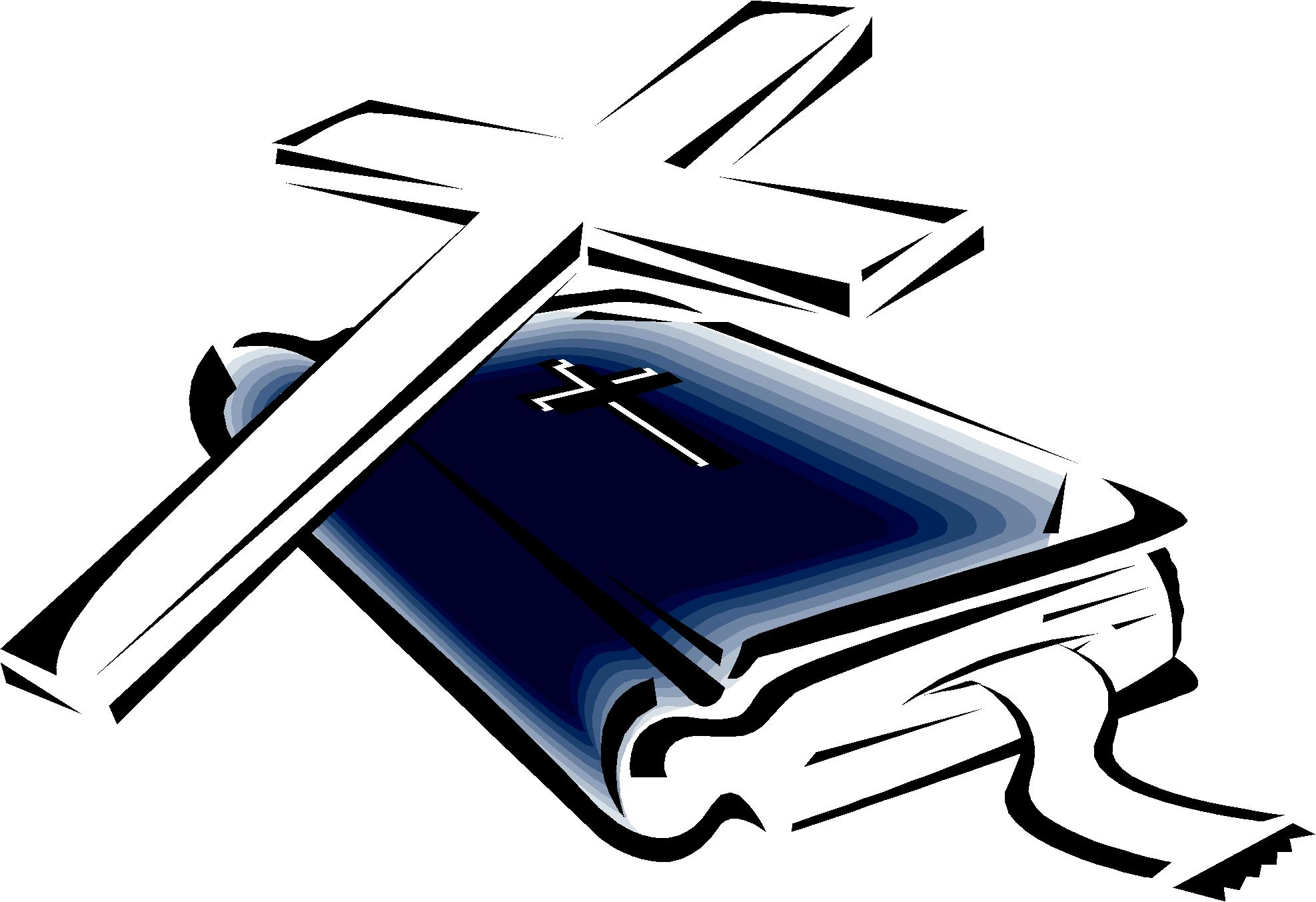 1975x1353 Clipart Cross And Bible Collection