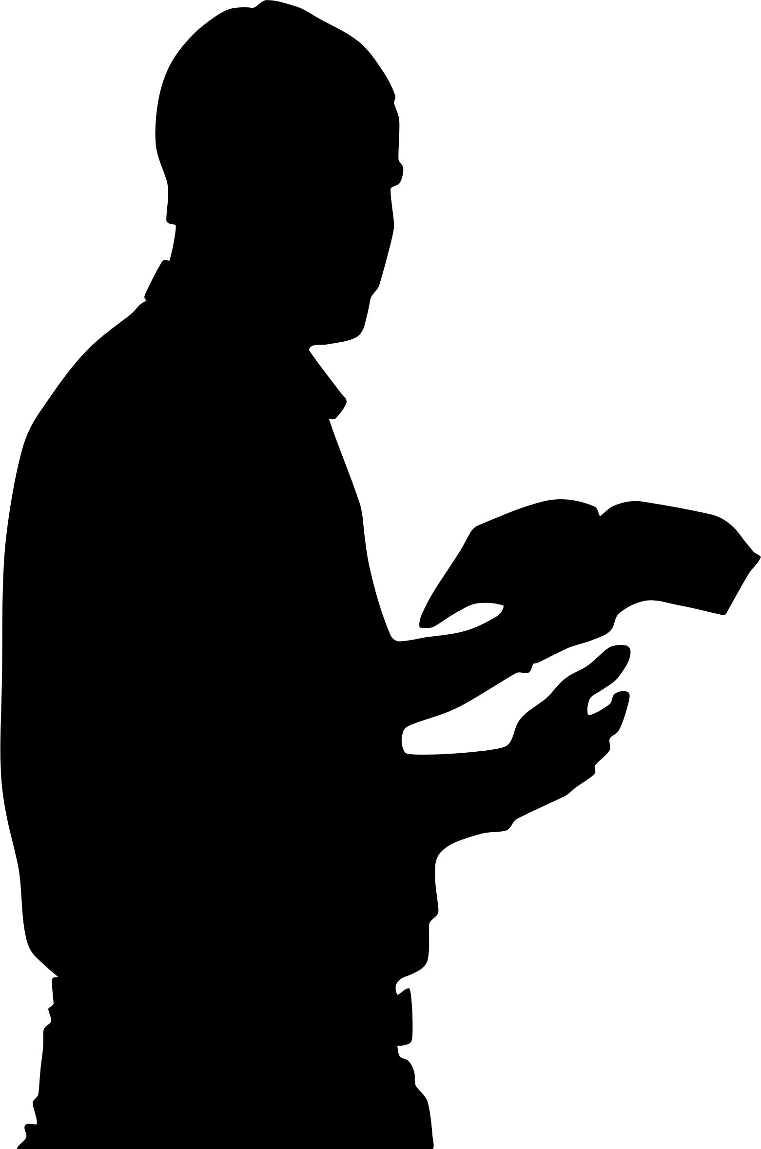 1561x2357 Man With Bible In Hand Silhouette Icons Png