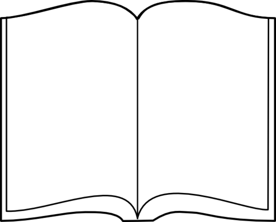 570x458 Png Open Book Black White Transparent Open Book Black