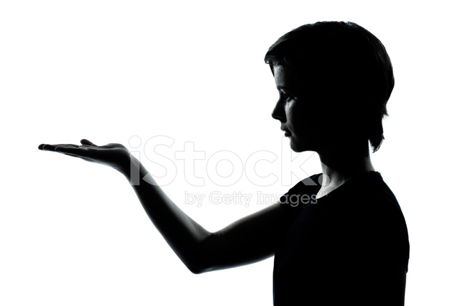660x440 One Young Teenager Boy Or Girl Silhouette Empty Hands Open Stock