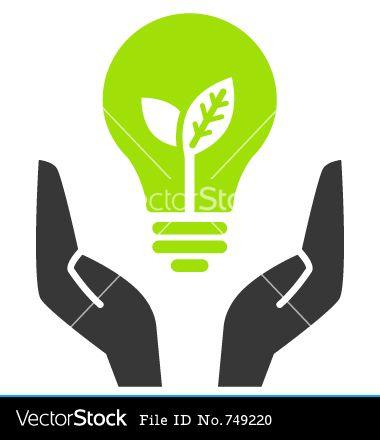 380x440 Open Hands Clip Art Green Ecology Bulb In Open Hands Vector