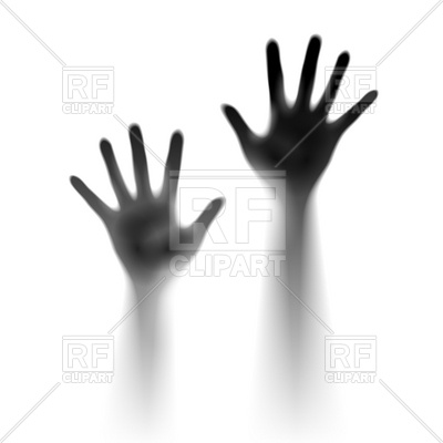 400x400 Two Open Hands In The Mist Royalty Free Vector Clip Art Image