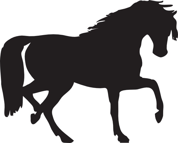 600x481 Horse Silhouette Clip Art Free Vector In Open Office Drawing Svg