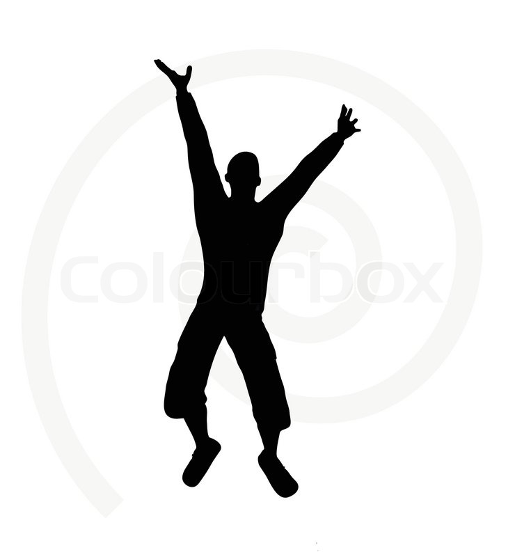 740x800 Illustration Of Senior Climber Man Silhouette Isolated On White