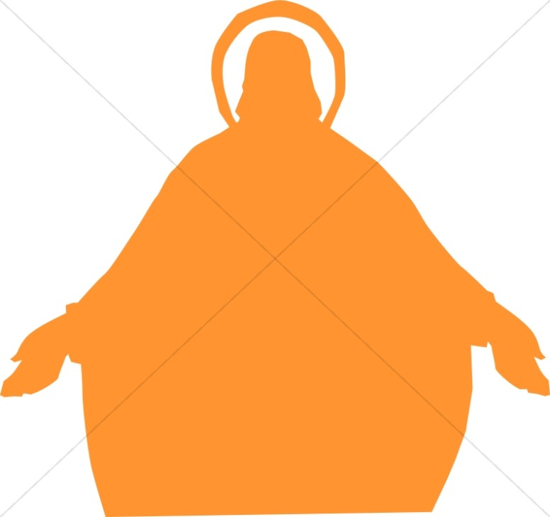 776x729 Jesus Silhouette With Open Arms Jesus Clipart