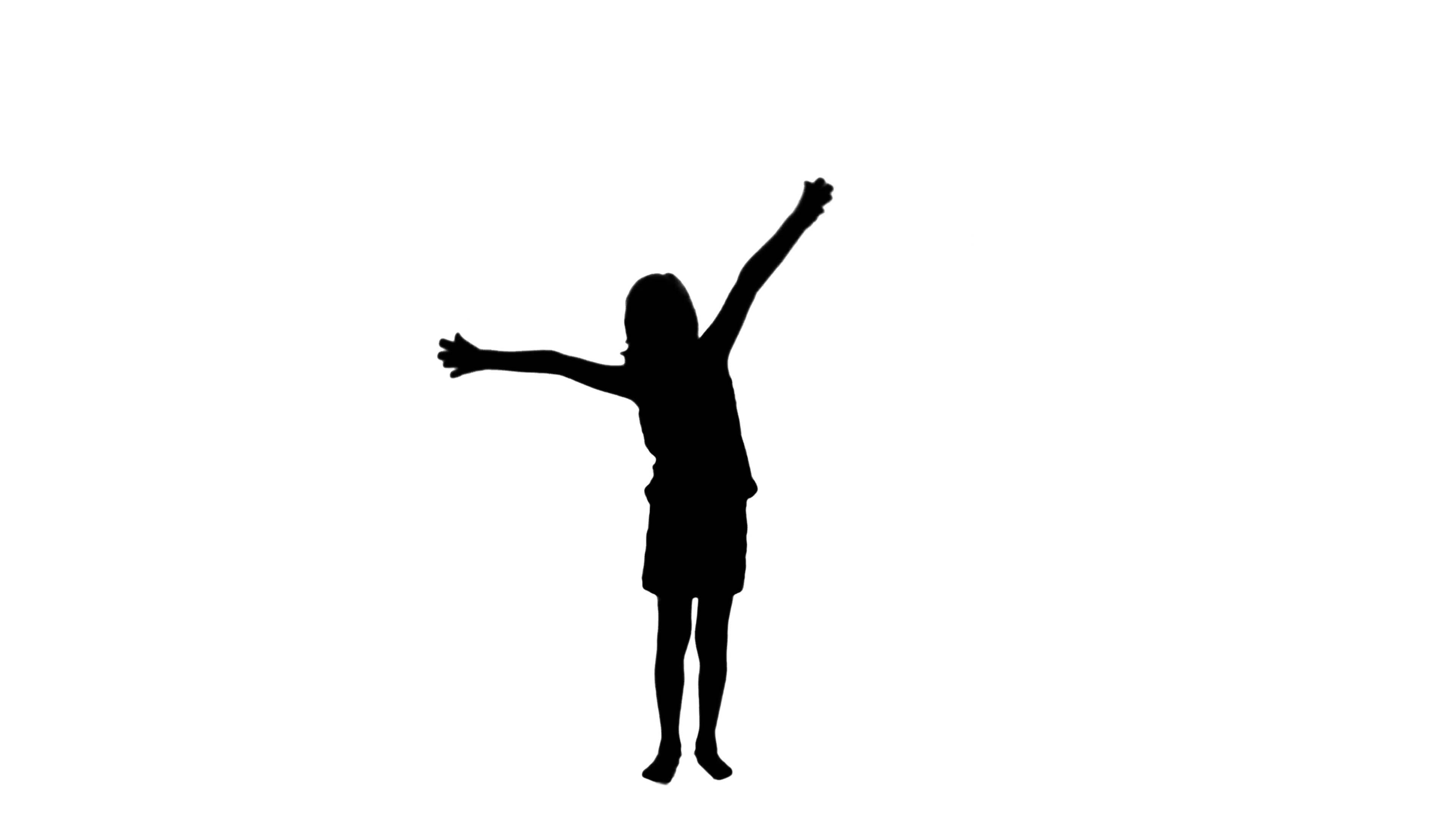 3840x2160 2316 Child With Wide Open Arms Silhouette With Sun, Hd Stock Video