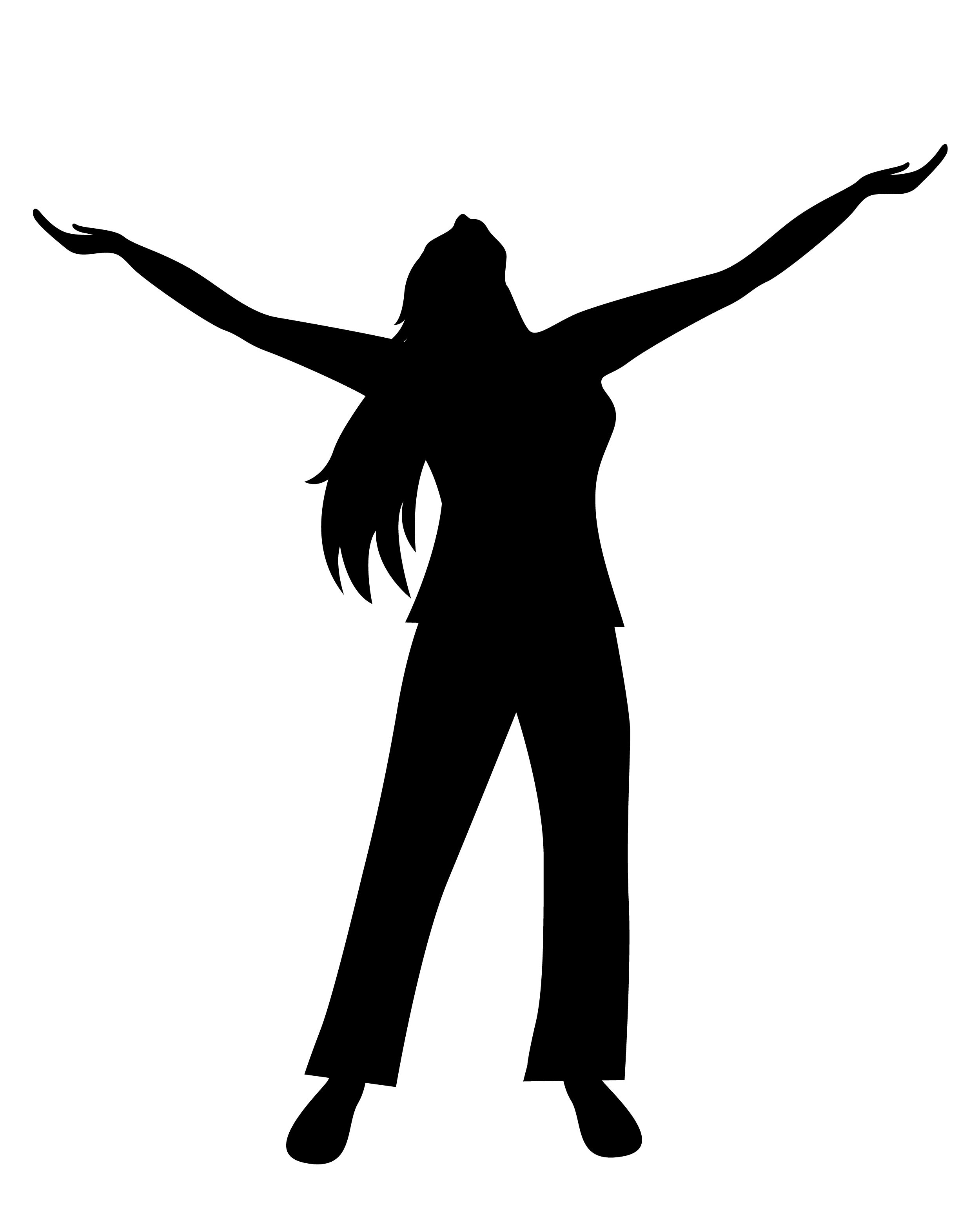 2500x3126 Women Silhouette With Open Palms She Is Open Arms Independent