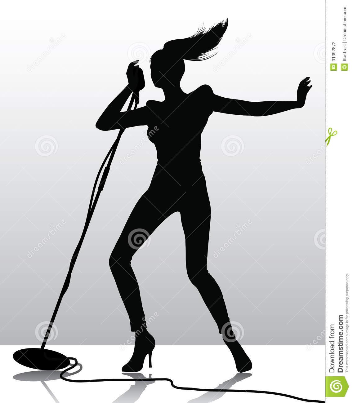 1138x1300 Girl Singer Silhouette Clipart
