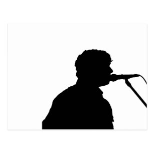 307x307 Singer Silhouette Postcards Zazzle