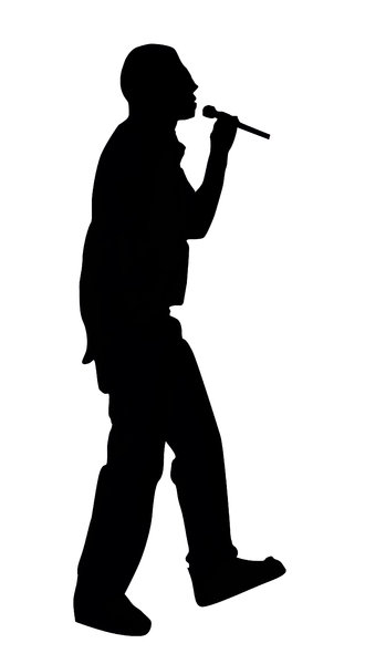 349x600 Mic Silhouette Clipart Of Black
