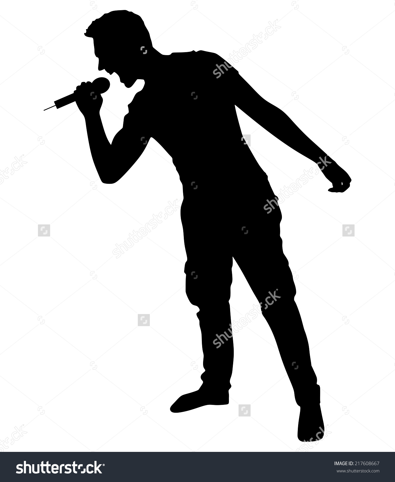 1313x1600 Free Singing Silhouette Clipart