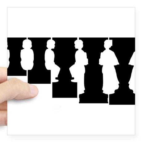 460x460 Optical Illusion Silhouette Stickers