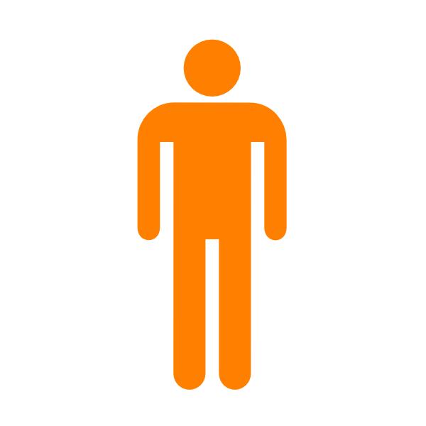 600x600 Man Silhouette Without Border Orange Clip Art