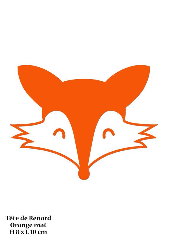 570x806 Motif Renard En Flex Thermocollant Orange Mat Perles