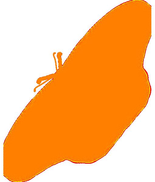 510x598 Orange Butterfly Silhouette Clip Art