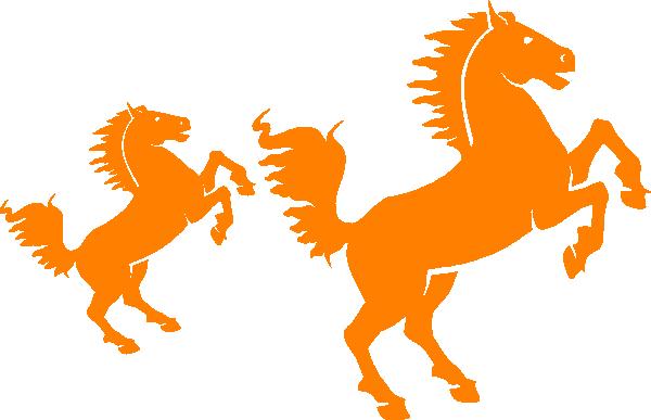 600x387 Orange Silhouette Clip Art