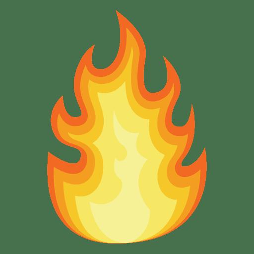 512x512 Orange Fire Cartoon Silhouette