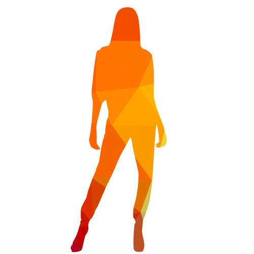 500x500 Silhouette Of A Girl Color Clip Art Public Domain Vectors
