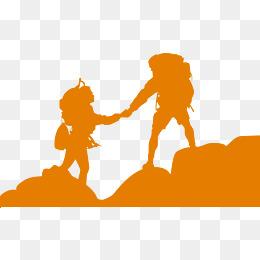 260x260 Vector Climber Silhouettes, Orange, Silhouette Creative, Climb Png