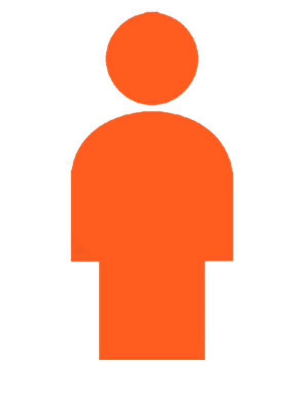 600x800 Man Silhouette Toilet Style Orange Stickers By Svatopluc Redbubble