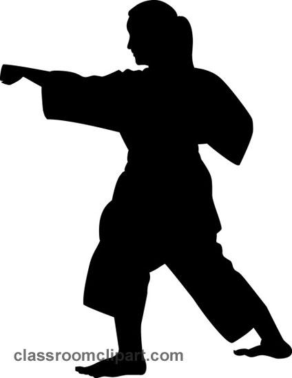 424x550 Karate Silhouette Clipart