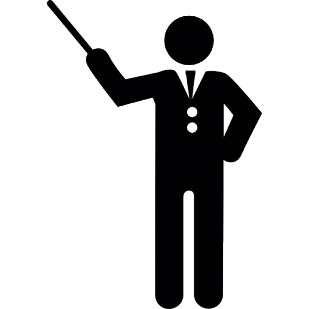 626x626 Orchestra Director With Stick Icons Free Download
