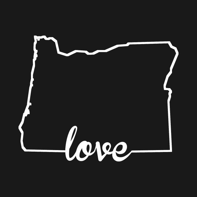 630x630 Oregon Love State Silhouette