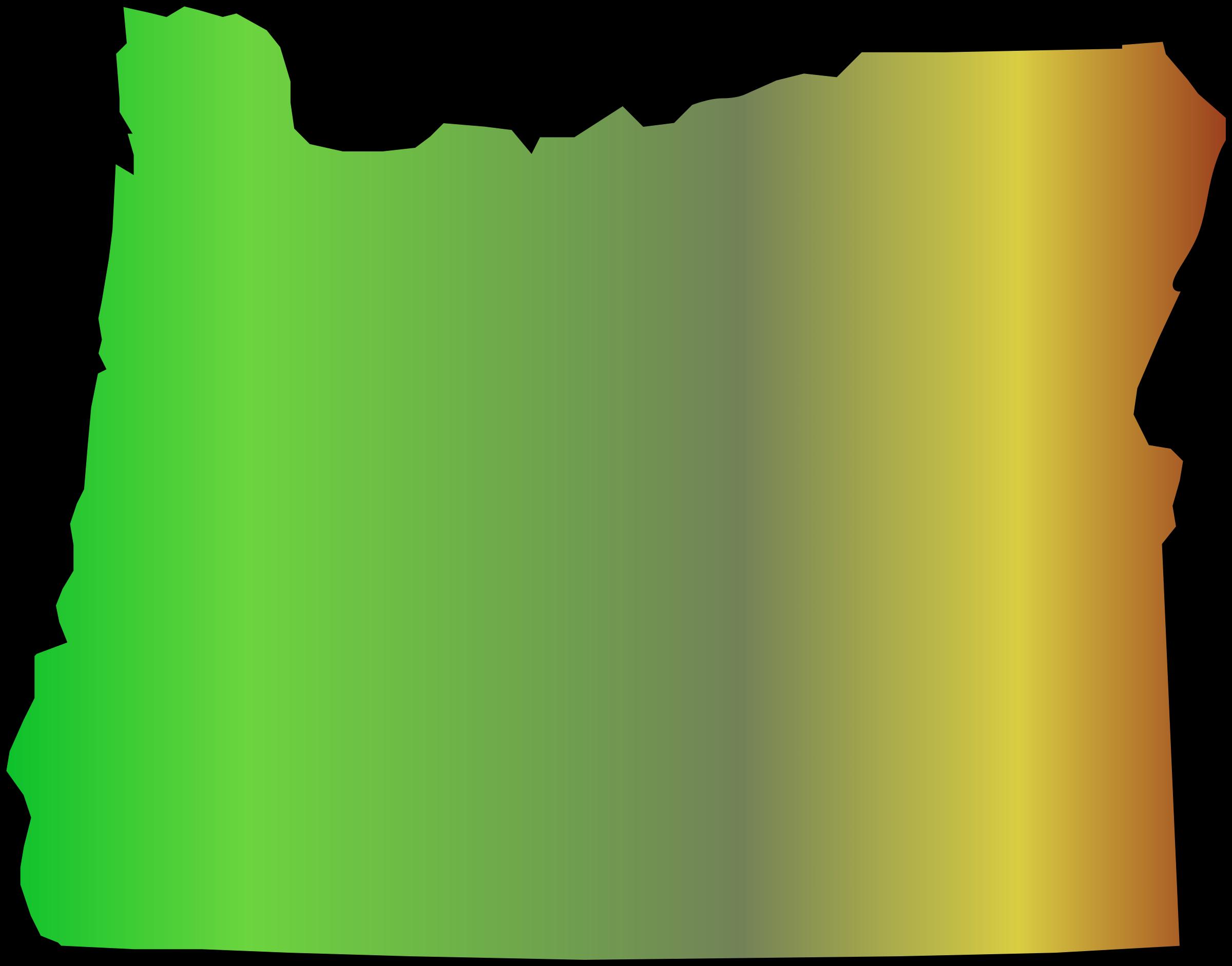 2400x1882 Outline Of Oregon