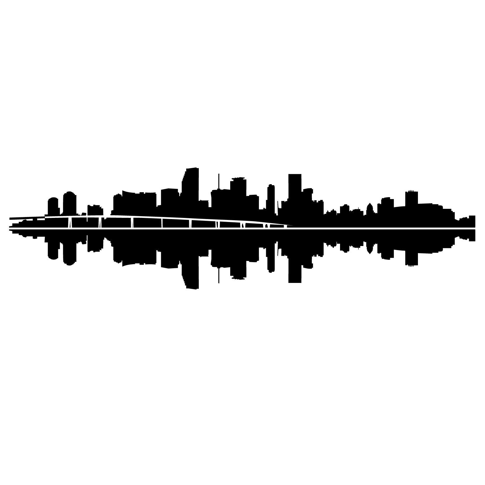 1656x1656 Miami Skyline Silhouette Tattoos Miami Skyline