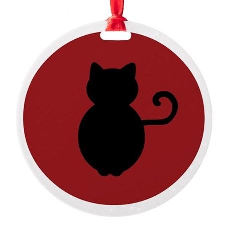 460x460 Cat Silhouette Ornaments