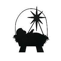 204x204 Baby Jesus Silhouette Christmas Ornaments Baby Jesus, Christmas