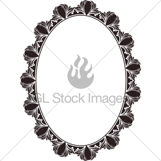 325x325 Ornate Oval Border Gl Stock Images