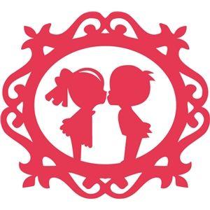300x300 Silhouette Design Store Ornate Frame Cute Kiss Scan N Cut