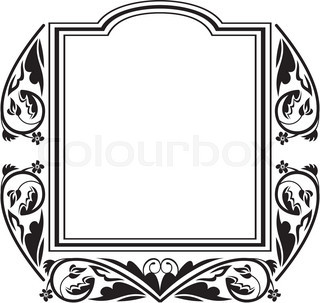 320x303 Vintage Ornate Frame Stock Vector Colourbox
