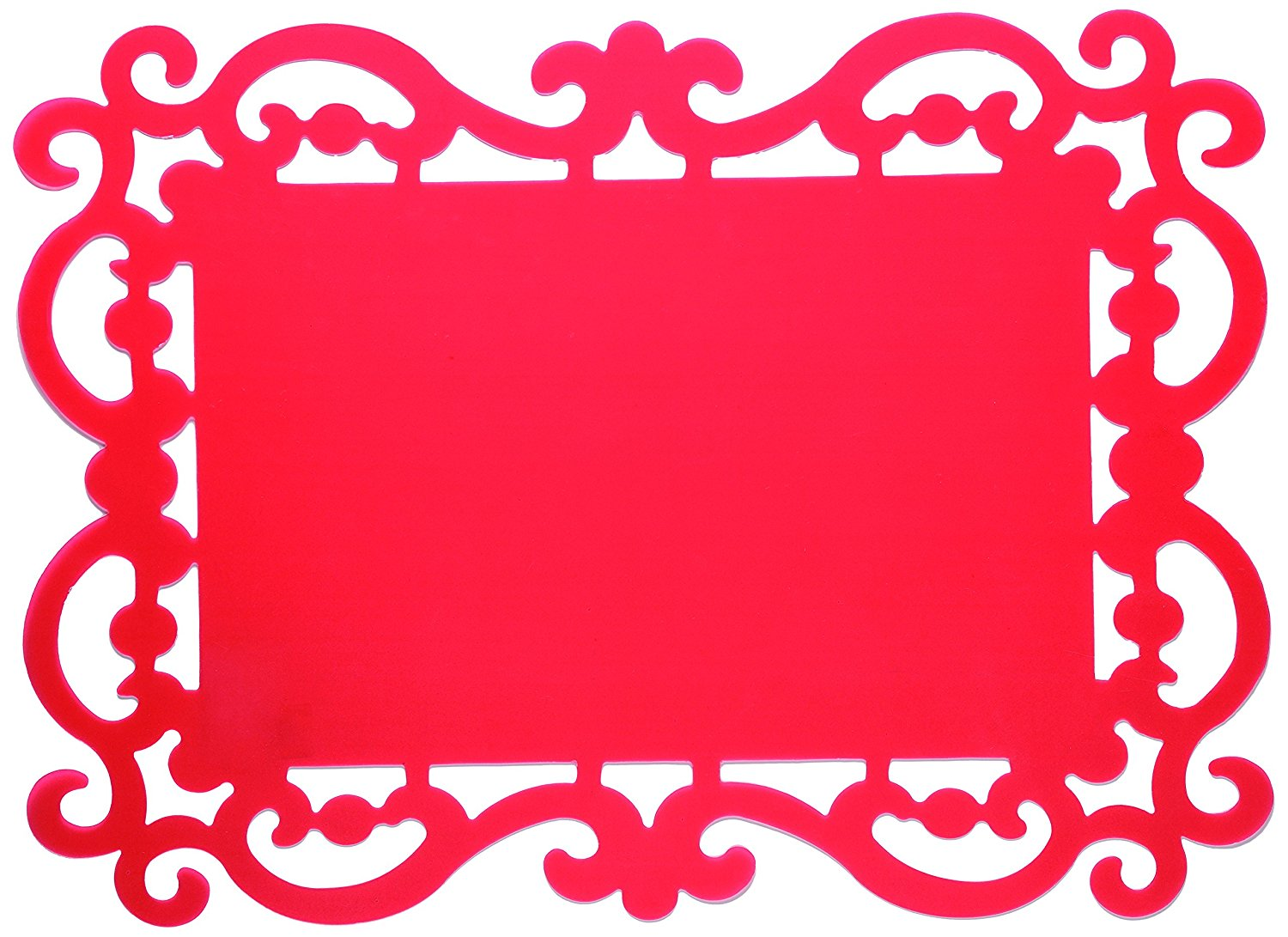 1500x1091 Bitossi Home Bef 31 Set 12 Placemats, 44x32cm, Red Amazon.co.uk