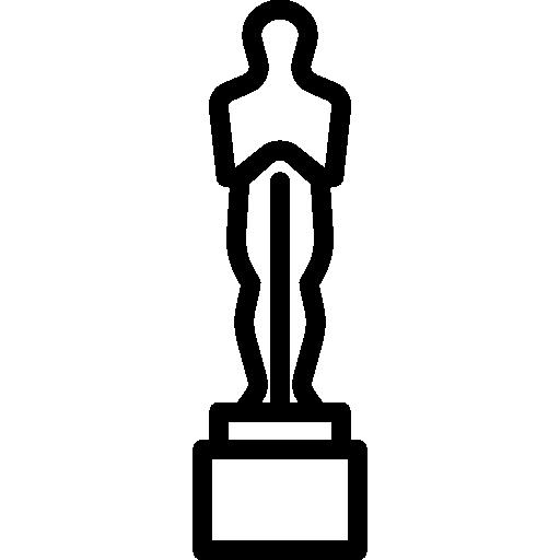 512x512 Super Oscar Statue Outline Prize Silhouette Free Vectors Logos