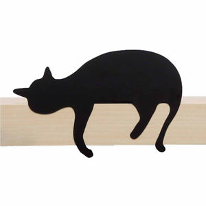 300x300 Artori Design Cat's Meow Oscar Black Metal Cat Figurine Statue
