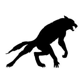 270x270 Werewolf Silhouette Stencil Free Stencil Gallery