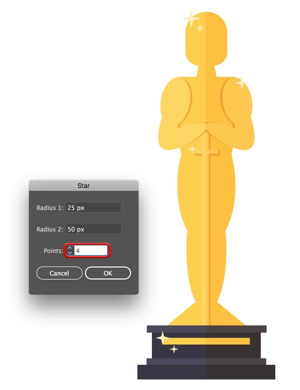 600x780 How To Create A Cartoon Oscar Trophy In Illustrator
