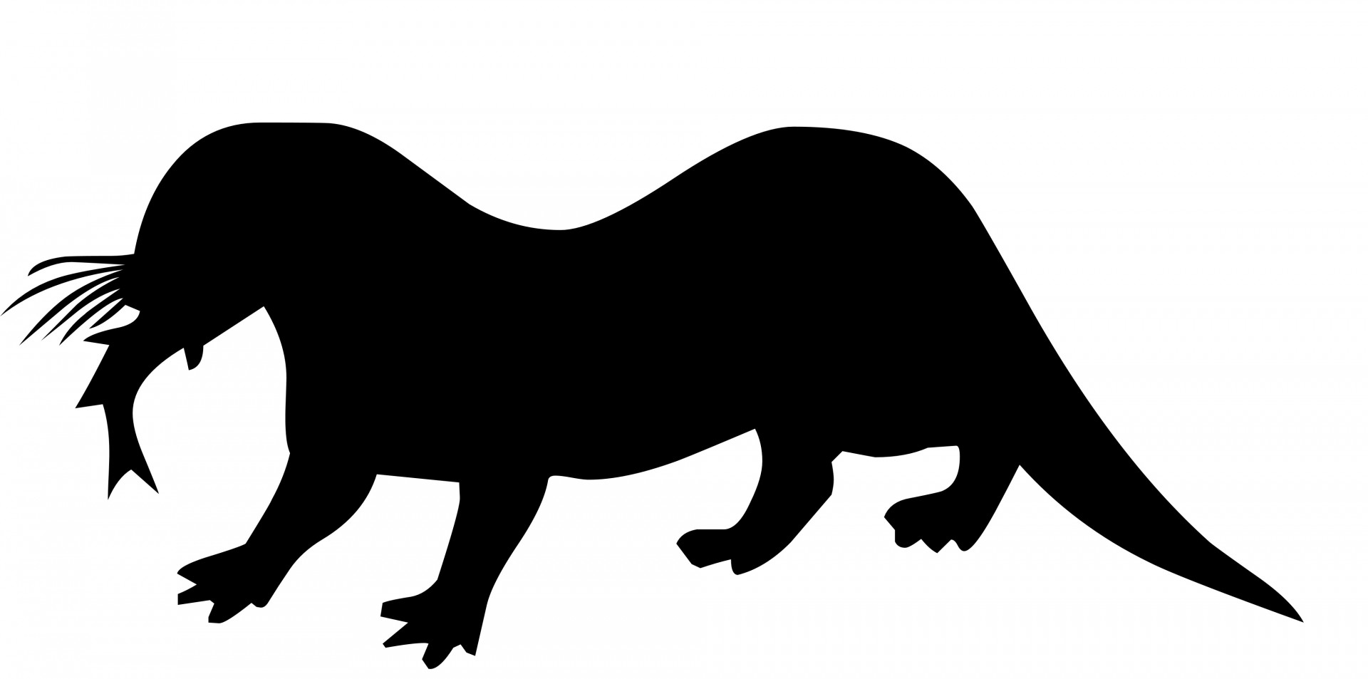 1920x953 Otter Silhouette Free Stock Photo