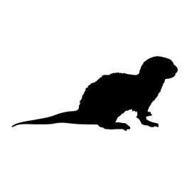 270x270 Otter Silhouette Stencil Free Stencil Gallery
