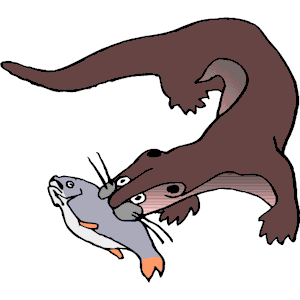 300x300 Otter With Fish Clipart, Cliparts Of Otter With Fish Free Download