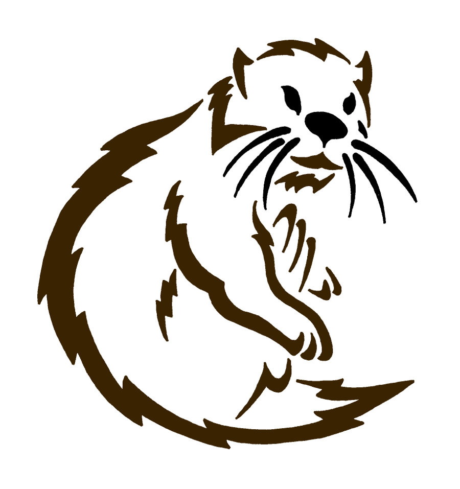 900x957 Otter. Otters, Silhouette