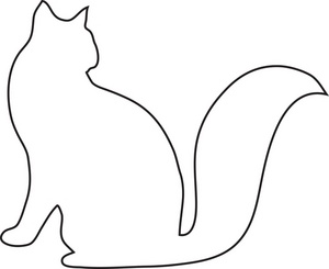 300x245 Free Clipart Cat Outline Silhouette Cliprt Image