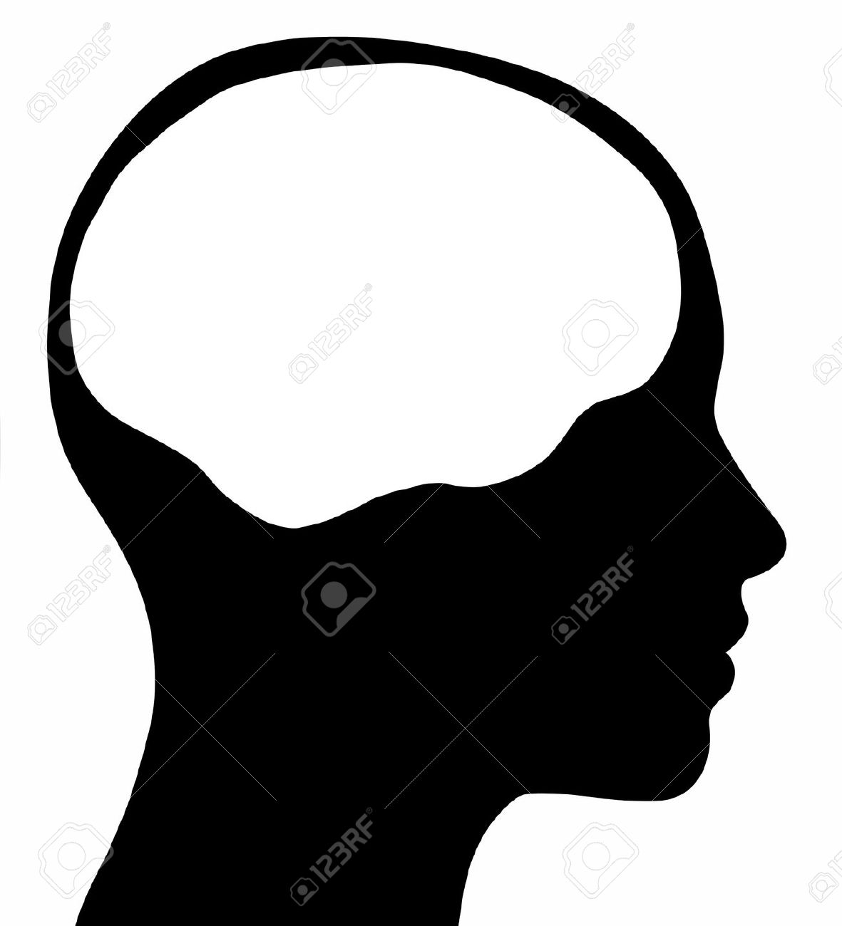 1181x1300 Head Silhouette Outline Clipart