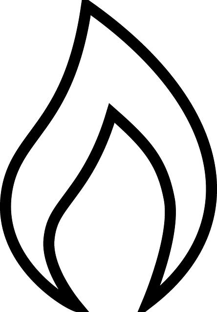 444x640 Black, Icon, Outline, Symbol, Silhouette, Fire, White