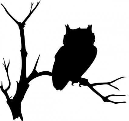 425x400 Image Of Flying Owl Clipart