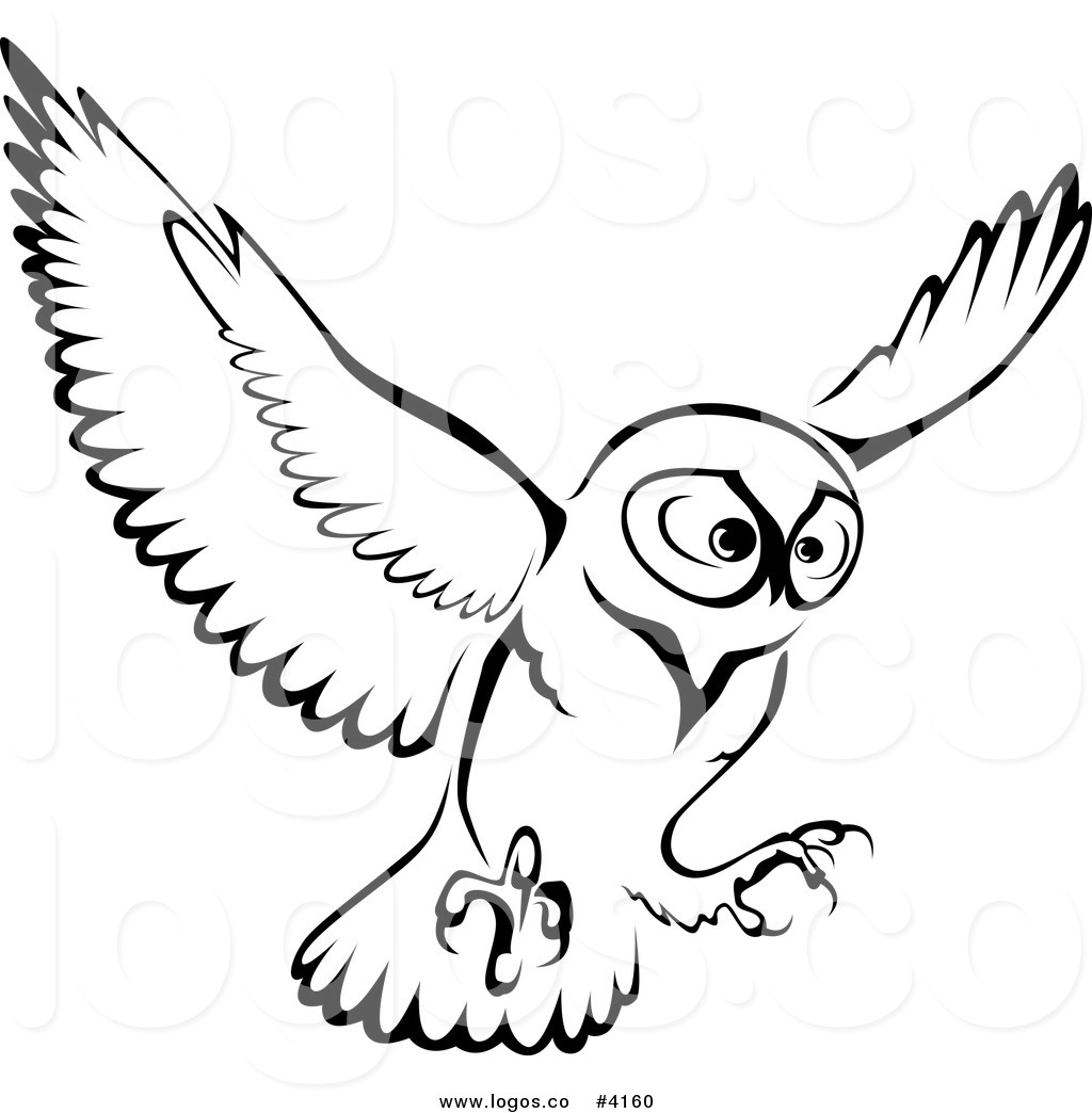 1024x1044 Image Of Flying Owl Clipart