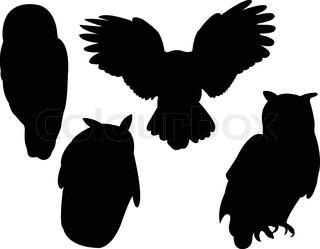 320x249 Vector Silhouette Flying Birds On White Background Stock Vector